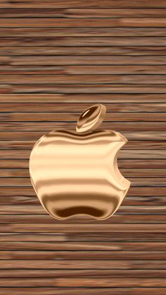 Download Gold & Wood 640 x 1136 Wallpapers - 4476415 - Gold Golden Apple Logo iPhone | mobile9