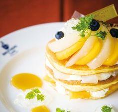 「柿と梨のパンケーキ」、ブラザーズカフェから