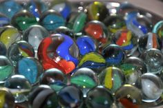Vintage Cat's Eye Marbles 1960's Lot of 51 by TheLordofSupplies $13.49