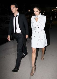 Camilla Belle in Paris France Pinning this to shorten my trench to this length:)