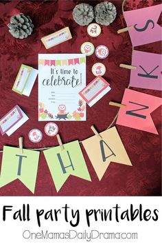 Fall party printable