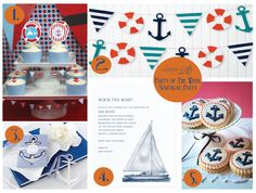 Party of the Week: Nautical Party #MakeLifeBeautiful #Summetime #Party #Anchor