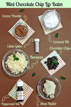 Pamper your lips with this homemade mint chocolate chip lip balm!