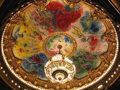 ceiling for the Paris Opera (Palais Garnier), -Marc Chagall