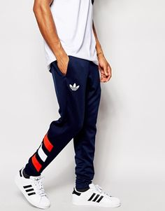 Image 1 of adidas Originals Skinny Joggers Adidas Originals Skinny Joggers, Adidas Joggers, Adidas Men, Sweatpants, Mens Adidas Outfit, Adidas Superstar Outfit, Adidas Originals Mens, Jogger Pants, Looks Adidas