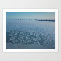Lake Michigan Picture / Winter / Chicago / Illinois / 2013 / Chicago art for sale @ society6.com. Print by Kate Hickey