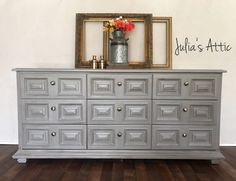 A personal favorite from my Etsy shop https://www.etsy.com/listing/530135511/drexel-grey-dresser