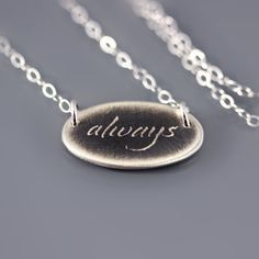 Sterling Silver Always Necklace by Lisa Hopkins Design