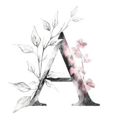 Discover recipes, home ideas, style inspiration and other ideas to try. Monogram Wallpaper, Alphabet Wallpaper, Name Wallpaper, Flower Wallpaper, Wallpaper Backgrounds, Alphabet Letters Design, Letter Art, Monogram Alphabet, Watercolor Lettering