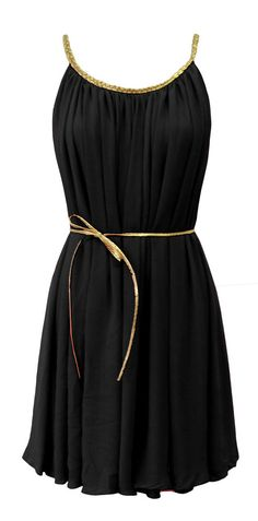 Black grecian style dress
