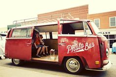 Flamed by his passion for both photography and vintage 70's Volkswagen Buses, photographer John Deprisco of Deprisco Photo put together a mobile photo booth aptly called The Photo Bus.