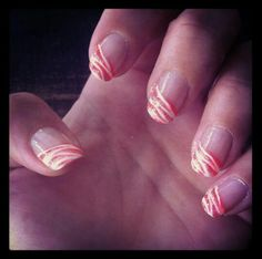 Roze zebra nagels