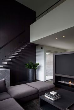 Private House in Belgium by Frederic Kielemoes | Living with Stairs | Home Decor