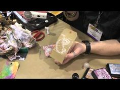 Tim Holtz Full Demo of Distress Paint and Rock Candy Dry Glitter at CHA ...