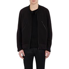 Ann Demeulemeester French Terry Zip-Front Sweatshirt (€440) ❤ liked on Polyvore featuring men's fashion, men's clothing, men's hoodies, men's sweatshirts und black