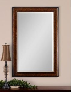 I personally believe that mirror is not that simple furniture in every interior. It is not only the one which functions to reflect your shadow, but it is a luxurious stuff that will transform your interior into such stylish look. Leaning Mirror, Round Wall Mirror, Wall Mounted Mirror, Uttermost Mirrors, Mirrors Wayfair, New Home Wishes, Bronze Mirror, Simple Furniture, Beveled Glass