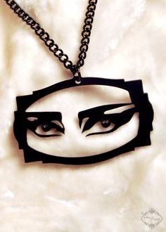 Siouxsie Sioux inspired silhouette necklace punk por FableAndFury, $26.00