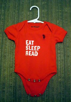 Life's three musts, even when you're a baby. (I know a baby who would love to wear this!)