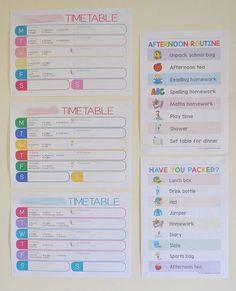 {The Organised Housewife}-School-Organising-Printables