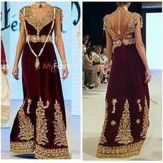 Algerian traditional costume whith a modern touch. Backless Prom Dresses, Bridal Dresses, Morrocan Dress, Oriental Dress, Arabic Dress, Arab Fashion, Evening Dresses, Formal Dresses, Fairy Dress