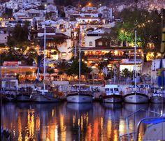 Kalkan Harbour by night