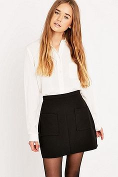 Urban Outfitters Solid Pocket Amber Skirt - Urban Outfitters