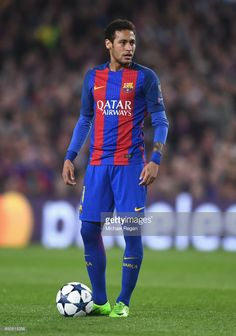 Neymar of Barcelona looks on during the UEFA Champions League Round of 16 second leg match between FC Barcelona and Paris Saint-Germain at Camp Nou on March 8, 2017 in Barcelona, Spain.