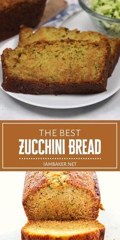 Best Zucchini Bread, Easy Zucchini Recipes, Chocolate Chip Zucchini Bread, Lemon Zucchini, Bake Zucchini, Bread Snacks Recipe, Cake Recipes, Snack Recipes, Dessert Recipes