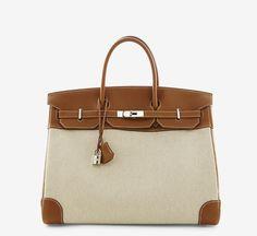 Hermès 40cm Toile Birkin