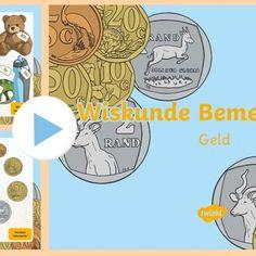 Hoe om jong kinders van geld te leer? Aktiwiteite en unieke munte en note - Teacha! Teaching Math, Maths, Math Groups, Om, High School, Money, Secondary School