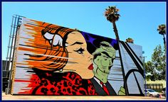 Beauty and the Skeletor - Culver City Graffiti