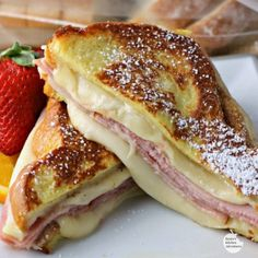 Monte Cristo Style Grilled Cheese Sandwich 1) Use ham and turkey 2) Grill on med low to med
