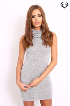 Keep comfy and stylish this season with our ribbed polo neck jumper dress. So easy to wear and style, an absolute wardrobe staple for this season. Our roll neck jumper dress is major luxe and really adds style to your Autumn\/Winter wardrobe.      Approx length of dress 88cm\/35\