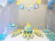 Rubber Duck Baby Shower. Cute idea using an age old neutral idea