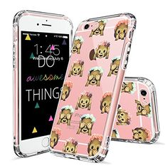 iPhone 6 Case, iPhone 6 Slim Case, MOSNOVO Cute Monkey Emoji Pattern Clear Design Printed Transparent Plastic Hard with Soft TPU Bumper Protective Back Case Cover for Apple iPhone Inch) Cute Iphone 6 Cases, Iphone Cases For Girls, Iphone 6 Covers, Iphone 6 Plus Case, Apple Iphone 6, Iphone 7, Protective Cases, 6s Plus, Henna Elephant