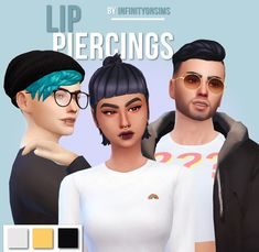 "infinityonsims: "" lip rings there was going to be more variety but i gave up here's a super simple, small lip ring for your sims! • your sims' lips won't have to be moved, but you'll probably have to..."