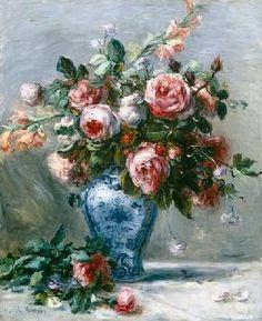 Pierre-Auguste Renoir - Vase of Roses