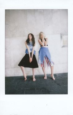 Myf Sheppard and Abbey Ashton in Dion Lee at Sydney Fashion Week! More polaroids here: http://www.dazeddigital.com/fashion/article/19586/1/ten-designers-making-waves-down-under