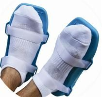 The Icy Feet Orthotic Cold Pack is biomechanically designed to alleviate pain and inflammation associated with plantar fasciitis, tendonitis, heels spurs, and training overuse. When worn for up to twenty minutes per day and used in conjunction with foot orthotic therapy, a patient can see significant reduction in pain and inflammation, associated with the above ailments. The Icy Feet cold packs truly define Icing Made Easy. Don't let your sore feet slow you down.  $34.99