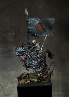 Ismael the vampire by Mirko Cavalloni · Putty&Paint Warhammer Fantasy, Warhammer Figures, Warhammer Art, Dragon Miniatures, Fantasy Miniatures, In China, Warhammer Vampire Counts, Wiking Autos, Fantasy Model