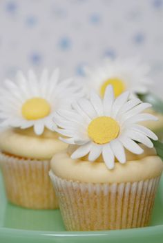 Daisy Cupcake Tower | Daisy cupcakes, Tower and Cake