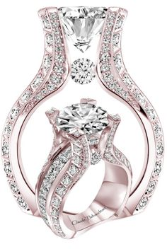Claude Thibaudeau - Pink gold and diamond ring