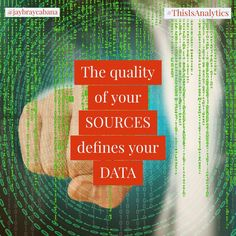 The quality of your sources defines your data. Make sure to check, validate and confirm the sources of your data as it will either positively or negatively impact your analysis.  Garbage In - Garbage Out  Do you agree? #👍 or #👎 Leave a comment below or tag a friend to share the message to everyone. 👉👉Follow @jaybraycabana and #thisisanalytics for more posts about #analytics, #DigitalMarketing, #BusinessStrategy Garbage In Garbage Out, Digital Marketing, Positivity, Messages, Posts, Check, How To Make, Text Posts