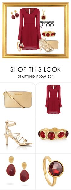 """under $100 dress"" by pam-doel on Polyvore featuring MICHAEL Michael Kors, Barneys New York, Kenneth Jay Lane, Marco Bicego and Astley Clarke"