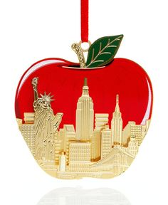 Closeout! ChemArt The Big Apple Christmas Ornament