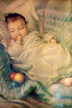 Sleeping Baby ~ Frances Tipton Hunter (1896 – 1957, American)