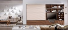 Concealed with sliding doors with bottom cabinets klach 38 - concealed tv cabinet with shelves