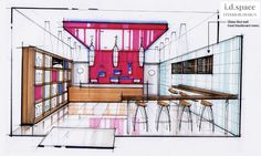 Design for Pan Asian fast food takeaway by i.d.space interior design