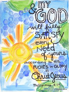 Illustration Print God Satisfies Every Need by nicplynel on Etsy, $2.00