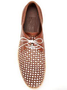 Salvatore Ferragamo Bario Woven Leather Shoes